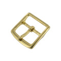 "G10452 1 3/8"" Natural Brass, Center Bar Buckle, Solid Brass"