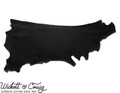 Wickett & Craig Skirting Leather, Side, Black