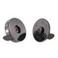 Magnetic Snap, 18mm Diameter, Gun Metal, 6.6 lbs (3 kg) Strength