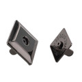 Square Beveled Magnetic Snap, 18mm Diameter, Gun Metal, 7.5 lbs (3.4 kg) Strength