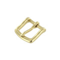 "B1049 3/4""  Natural Brass, Heel Bar Buckle, Solid Brass-LL"