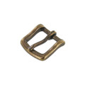 "B1049 3/4""  Antique Brass, Heel Bar Buckle, Solid Brass-LL"