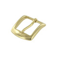 "B8504 1"" Natural Brass, Heel Bar Buckle, Solid Brass-LL"