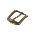 "B8504 1"" Antique Brass, Heel Bar Buckle, Solid Brass-LL"