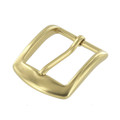 "B8504 1 1/4"" Natural Brass, Heel Bar Buckle, Solid Brass-LL"
