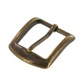 "B8504 1 1/4"" Antique Brass, Heel Bar Buckle, Solid Brass-LL"