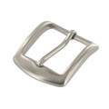 "B8504 1 1/4"" Nickel Matte, Heel Bar Buckle, Solid Brass-LL"