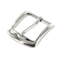 "B8504 1 1/4"" Nickel Plate, Heel Bar Buckle, Solid Brass-LL"