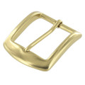 "B8504 1 1/2"" Natural Brass, Heel Bar Buckle, Solid Brass-LL"