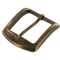 "B8504 1 1/2"" Antique Brass, Heel Bar Buckle, Solid Brass-LL"