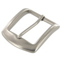 "B8504 1 1/2"" Nickel Matte, Heel Bar Buckle, Solid Brass-LL"