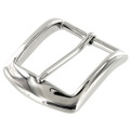 "B8504 1 1/2"" Nickel Plate, Heel Bar Buckle, Solid Brass-LL"