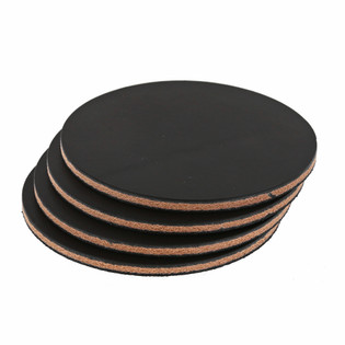Wickett & Craig Leather Coasters - Black