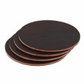 Wickett & Craig Leather Coasters - Dark Brown