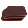 Square Leather Coasters - Make your own - Burgundy