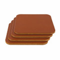 Wickett & Craig Leather Coasters - Chestnut Squares