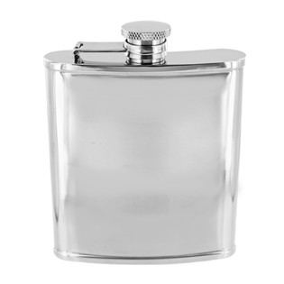 6oz Stainless Steel Flask Polished