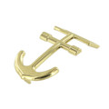"B8336 1 1/4"" Anchor Buckle, Brass Plated, Post Buckle, Zinc"