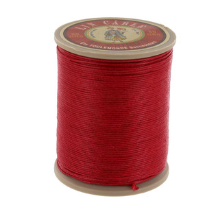 128 Rouge, Red, Fil Au Chinois - Lin Cable - Waxed Linen Thread