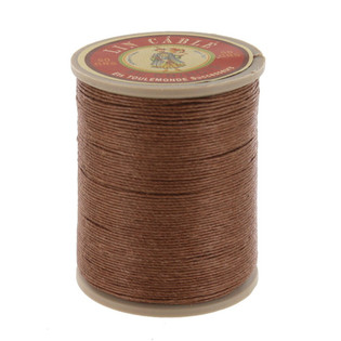 185 Beige, Fil Au Chinois - Lin Cable - Waxed Linen Thread