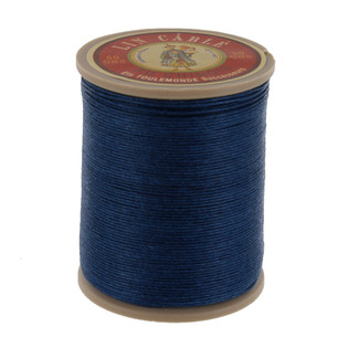 266 Bleu, Blue, Fil Au Chinois - Lin Cable - Waxed Linen Thread