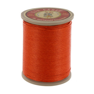 419 Oranger, Orange, Fil Au Chinois - Lin Cable - Waxed Linen Thread