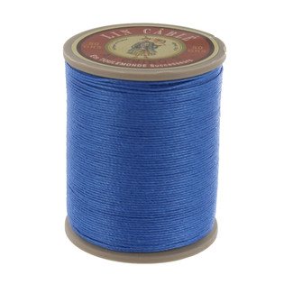 665 Roy, Royal Blue, Fil Au Chinois - Lin Cable - Waxed Linen Thread