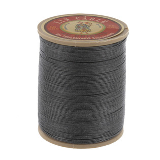 872 Ardoise, Slate, Fil Au Chinois - Lin Cable - Waxed Linen Thread