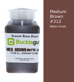 Medium Brown Matte Leather Edge Paint