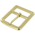 "B7975 1 1/2"" Natural Brass, Center Bar Buckle, Solid Brass-LL"