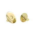 Round Beveled Magnetic Snap, 21mm Diameter, Natural Brass, 6.6 lbs (3.0 kg) Strength