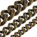 Solid Brass chain antique brass two side flat