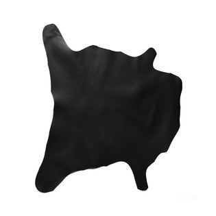 Buffalo Calf Leather Hide Black