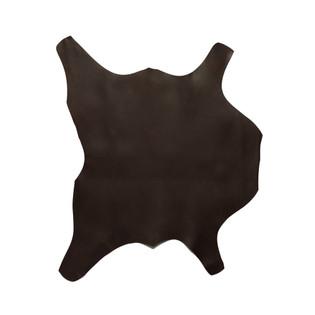 Buffalo Calf Leather Hide Dark Brown