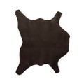 Buffalo Calf Leather Hide Dark Brown