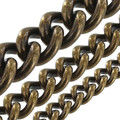 "B8835 Antique Brass, Round Chain, Solid Brass-LL (36"" length)"