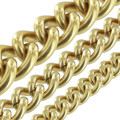 B8835 Natural Brass, Round Chain, Solid Brass-LL