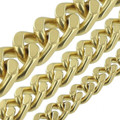 B8845 Natural Brass, Four Side Flat Chain, Solid Brass-LL