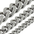 B8845 Nickel Plate, Four Side Flat Chain, Solid Brass-LL