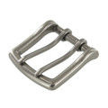 "B7990 1 1/2"" Nickel Matte, Double Prong Buckle, Solid Brass-LL"