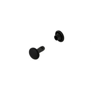 RV79 black matte double cap rivets
