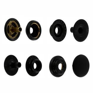 S127B50-LP black matte snap fasteners