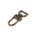 "520 3/4"" Antique Brass, Swivel Lever Snap, Solid Brass-LL"