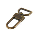 """530 1"""" Antique Brass, Swivel Lever Snap, Solid Brass-LL"""