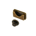B8614 Antique Brass, Post Magnetic Closure, Zinc