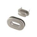 B8706 Nickel Matte, Oval Magnetic Closure, Zinc