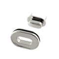 B8706 Nickel Plate, Oval Magnetic Closure, Zinc