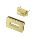 B8707 Brass Plate, Rectangle Magnetic Closure, Zinc