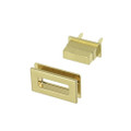 B8795 Brass Plate, Turn Lock, Zinc