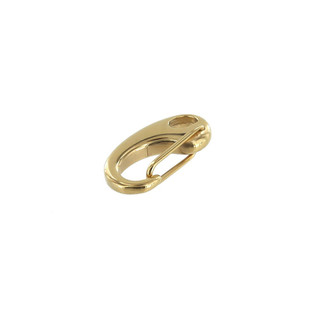 B8934 Hole 5.5 x 3.3mm, Bracelet Lever Clasp, PVD Gold,  Stainless Steel